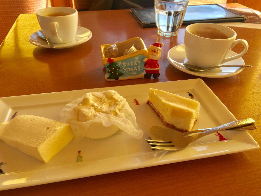 チーズケーキ3種